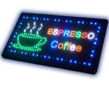 Espresso Coffee LED Sign